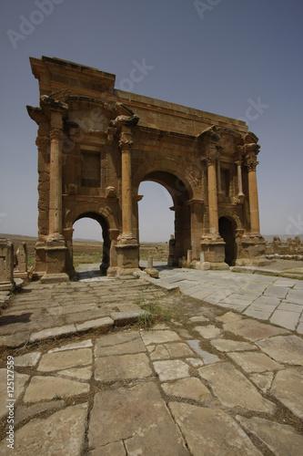 Poster Algérie Arch of Trajan in Timgad, Algeria