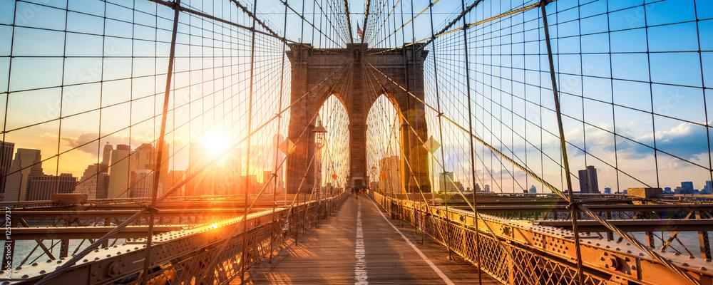 Fototapeta New York Brooklyn Bridge Panorama