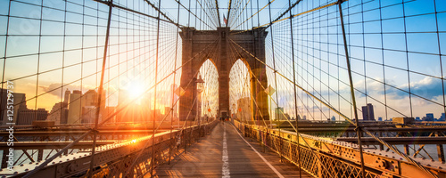 Photo sur Toile New York City New York Brooklyn Bridge Panorama