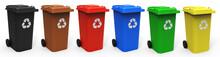 Mülltonnen Verschiedene Farben