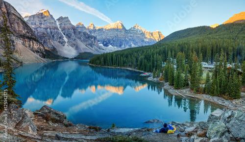 Valokuva  Moraine lake panorama in Banff National Park, Alberta, Canada