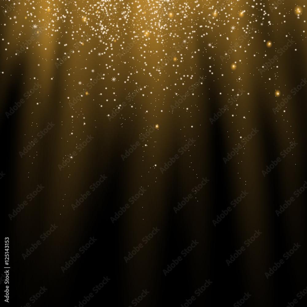 Fototapety, obrazy: shiny golden stars background