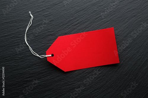Fotografie, Obraz  Blank price tags on dark background