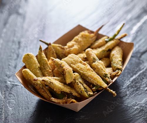 Fototapeta crispy fried okra in container obraz