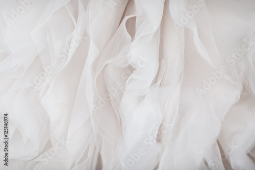 Wedding dress fabric close up Fototapet