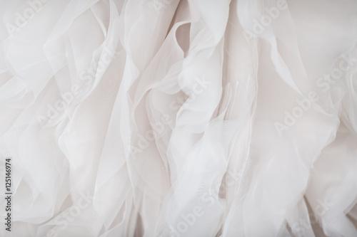 Valokuva  Wedding dress fabric close up