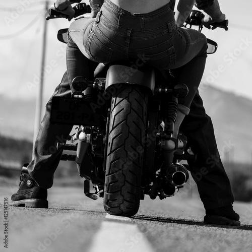 Fotografia couple de motards