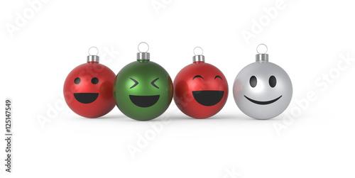 Lustige Weihnachtskugeln.Vier Lustige Weihnachtskugeln Buy This Stock Illustration And