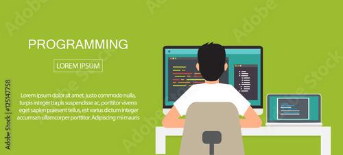 Fotografía  programming coding, programming banner