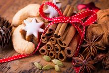 Duftende Zutaten Für Die Weihnachtsbäckerei