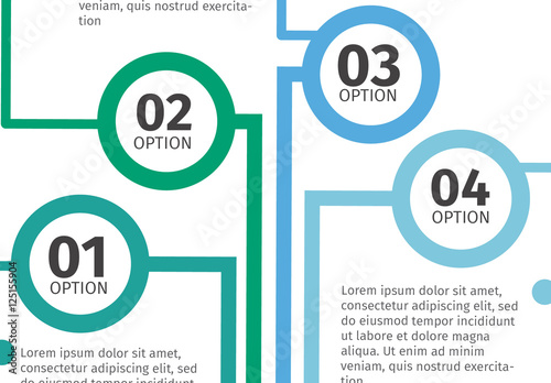cool tone connected circle flowchart style infographic 1 buy this