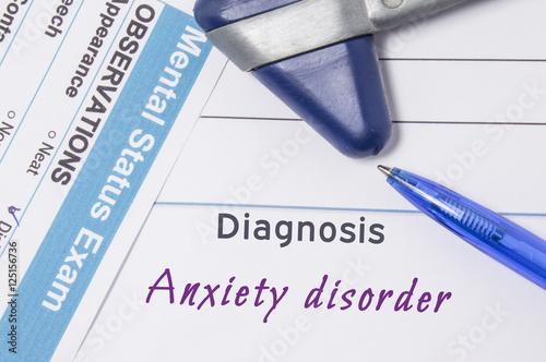 Fotografía  Psychiatric diagnosis Anxiety disorder