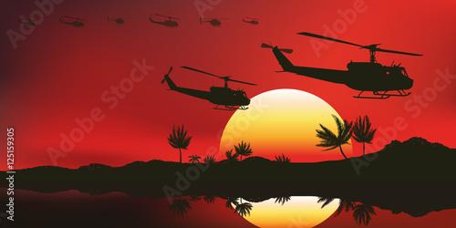 Valokuva  Hélicoptère - Viet Nam - Américain