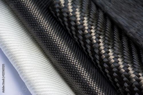 Photographie  Carbon fiber composite raw material