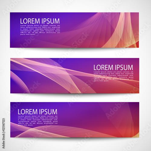 Fototapeta Abstract header orange red wave purple orange red gradient background vector design obraz