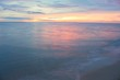 Sunrise morning time before. Colorful sky and water in lake reflex.
