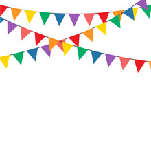 Colorful Bunting Party Decoration Vector