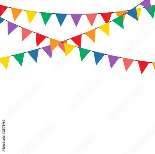 Obraz Colorful bunting party decoration vector - fototapety do salonu