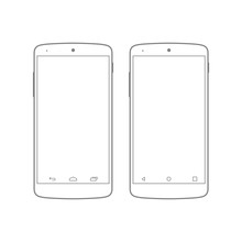 Mockup Android Mobile Gadget D...
