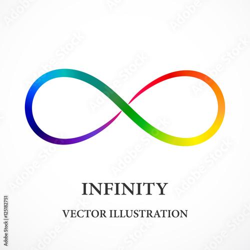 Fotografia  Contour rainbow infinity symbol