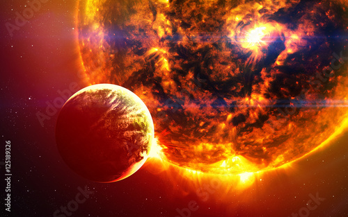 Fototapety, obrazy: Abstract scientific background - planets in space, nebula and stars. Elements of this image furnished by NASA nasa.gov