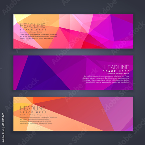 abstract broght colors web banners set - Buy this stock