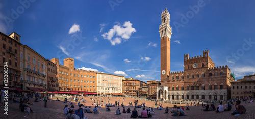 Fotografie, Obraz  Piazza del Campo in Siena, Italien