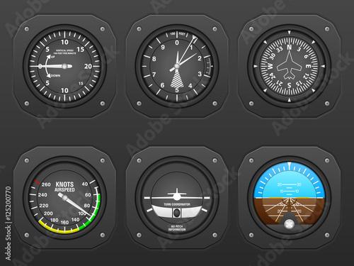 Photo Airplane dashboard