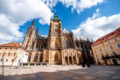 Printed kitchen splashbacks Prague View on saint Vitus cathedral on the castle hill in lesser town in Prague city