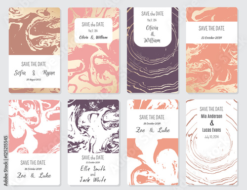 Vector Set Of Card Templates Perfect For Save The Date Baby Shower