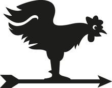 Vector Rooster Weathervane