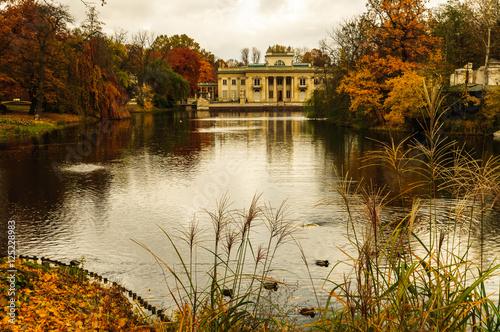 Autumn in Royal Lazienki in Warsaw - 125228983