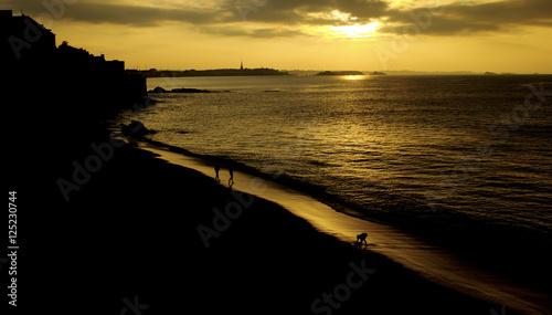 Photo  Ombres au soleil couchant