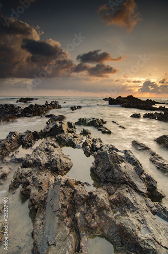 beautiful nature of unique rocks formation at Pandak Beach locat Wallpaper Mural