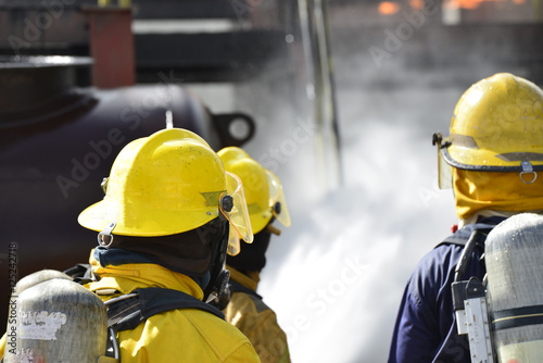 Fotografie, Obraz  Rescue conception , emergency response of fireman team service industry