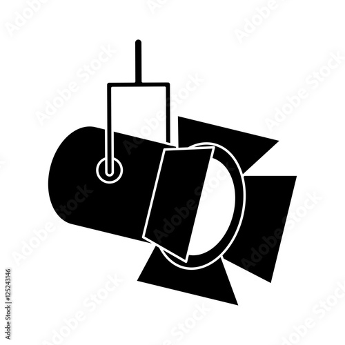 Spoed Foto op Canvas Licht, schaduw Cinema stage reflectors icon. Movie video media and entertainment theme. Isolated design. Vector illustration