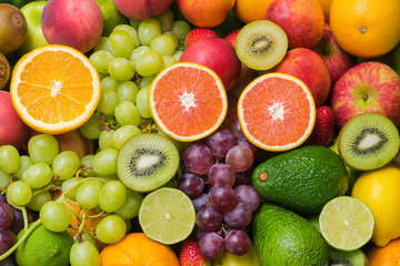 Nutritious fresh fruits and vegetables for healthy