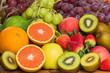 Arrangement fresh fruits and vegetables