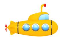 Toy Cartoon Styled Submarine. ...