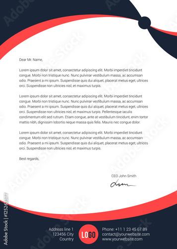 Fototapeta Modern clean simple letterhead design obraz
