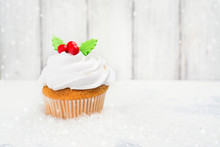 Festive Christmas Cupcake