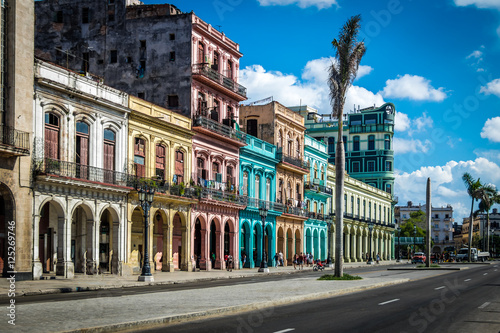 Poster Havana Old Havana downtown Street - Havana, Cuba