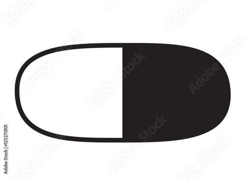 Fototapeta capsule icon obraz na płótnie