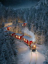 Amazing Cute Christmas Train