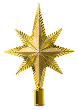 Star Top Decoration, Christmas Tree Topper Ornament, Isolated
