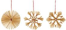 Straw Snowflake Hanging Decora...