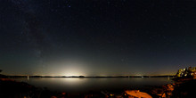 Panorama Of The Night Sky Abov...