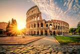 Colosseum in Rome and morning sun, Italy - 125291157