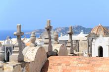 Cemetery In Corsica.