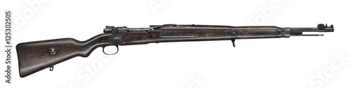 Fotografía  Mauser rifle isolated on white